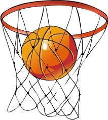 basket hoop and ball logo