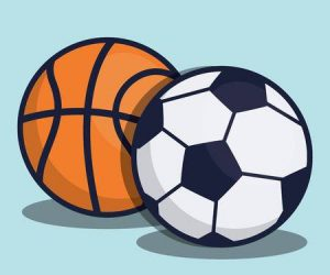 Logos of Basketball and Soccer